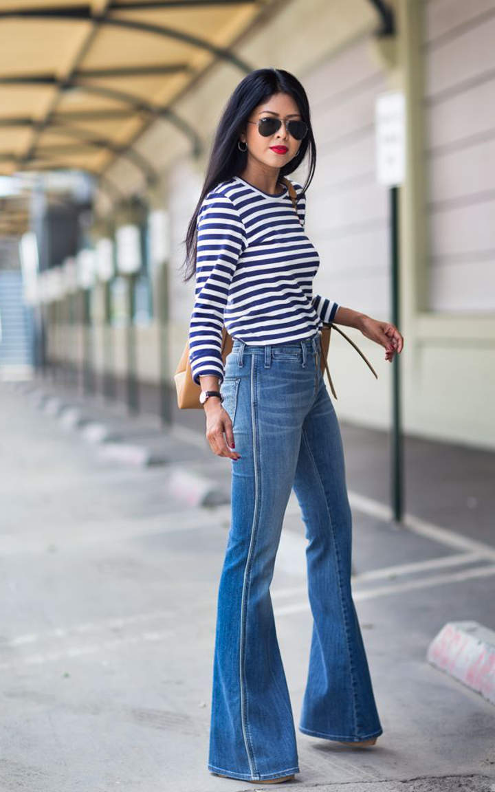 Flare jeans outfits to wear this autumn