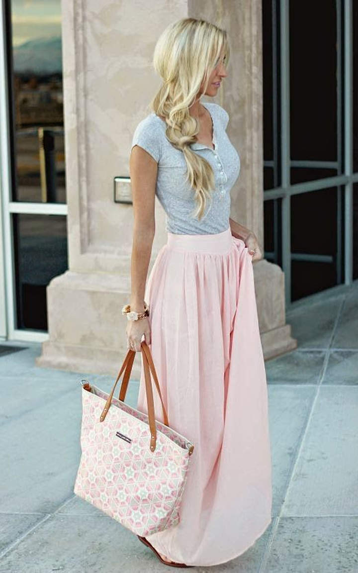 546c6314b95 Pastel pink outfits that you can wear in the summer time