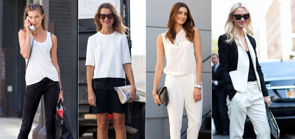 Black and white outfits for spring and summer