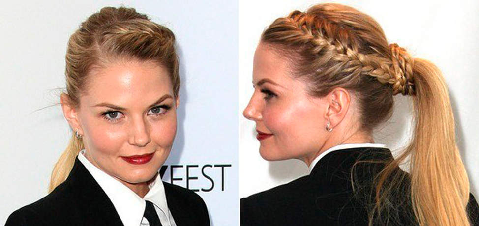 How to wear the French braid in a ponytail