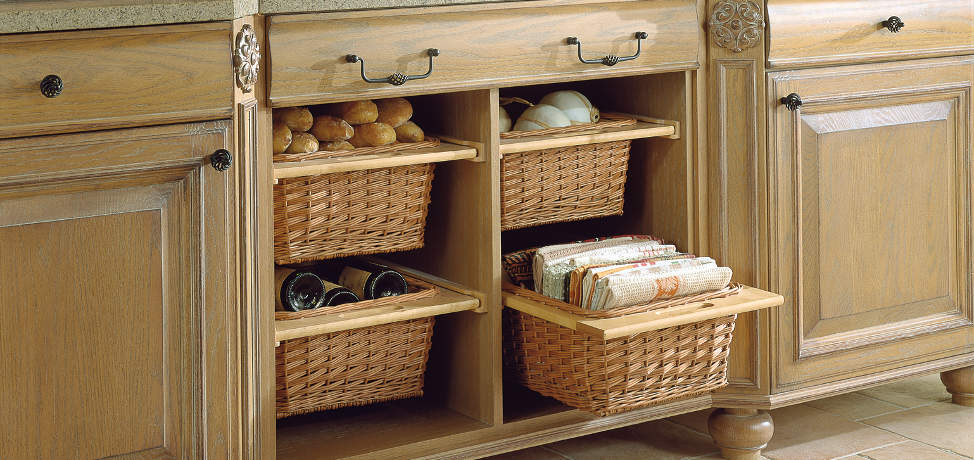 Use baskets to create storage containers for your home