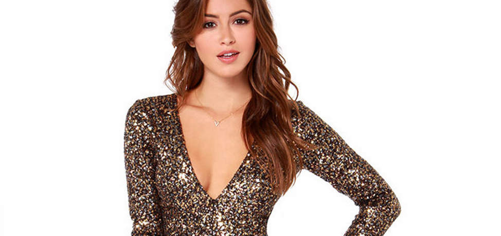 Wear sequin at the New Year's Eve party!